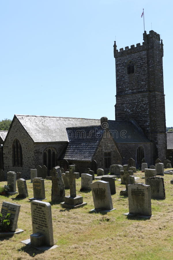 Meavy Village Church. Church Meavy village church located on Dartmoor national Park Devon UK stock photo