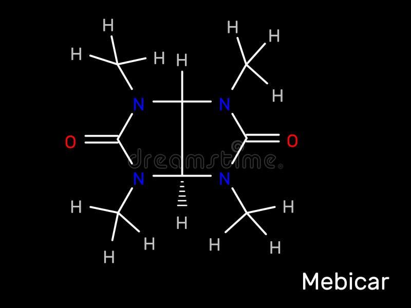 Mebicar抗焦虑药药物分子式 r 库存例证