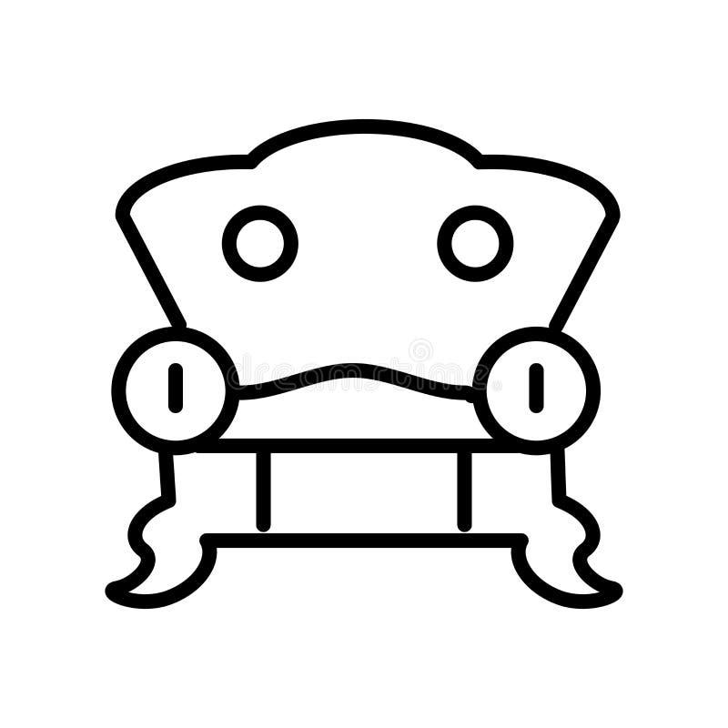 Meblarski ikona wektor odizolowywający na białym tle, meble si ilustracja wektor