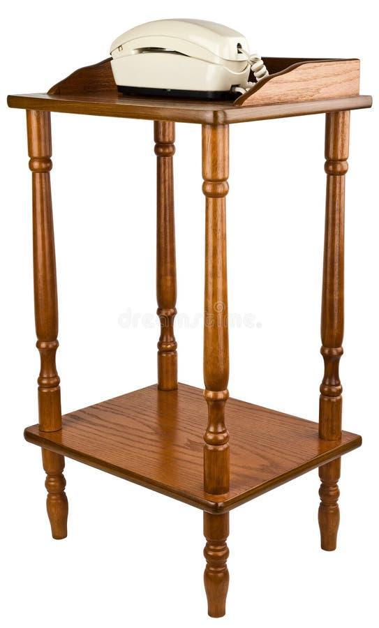 meblarskiego dębu stojaka stołowy telefon zdjęcie stock