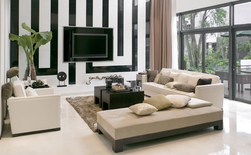 meble żyje nowoczesny pokój obrazy royalty free