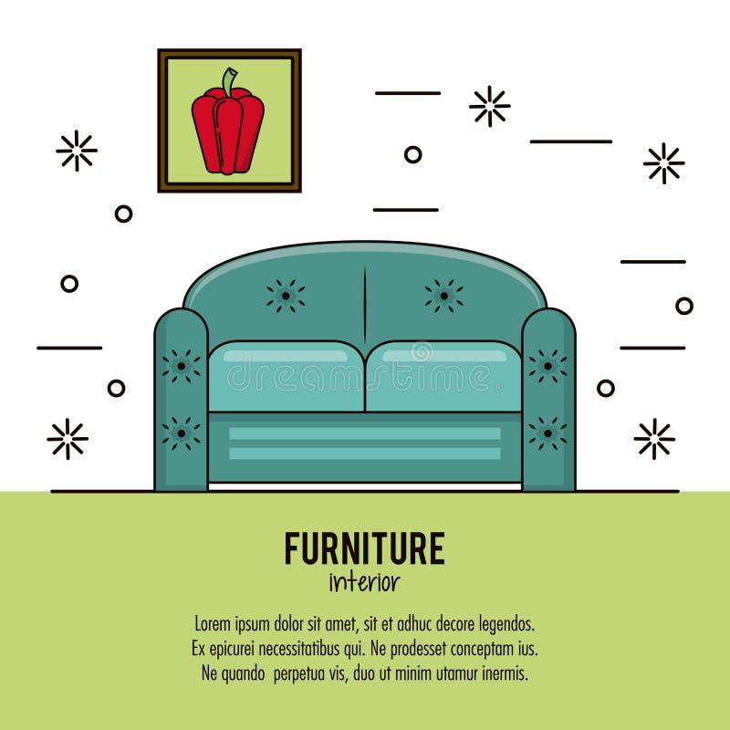 Meble domowy wnętrze ilustracja wektor