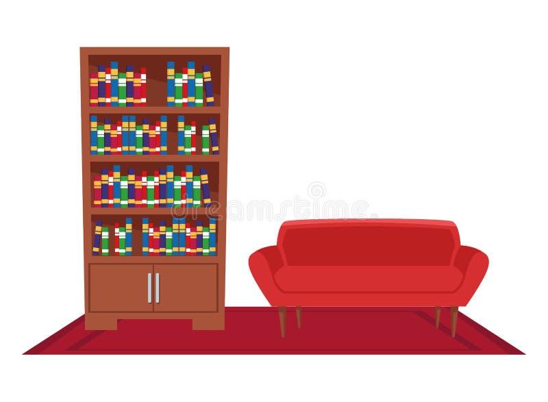 Meble ikony domowa wewnętrzna kreskówka royalty ilustracja