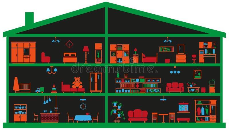 Meble w domu ilustracji