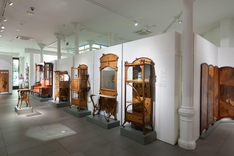 Meble w wnętrzu Museo De Modernismo katalończyk fotografia royalty free