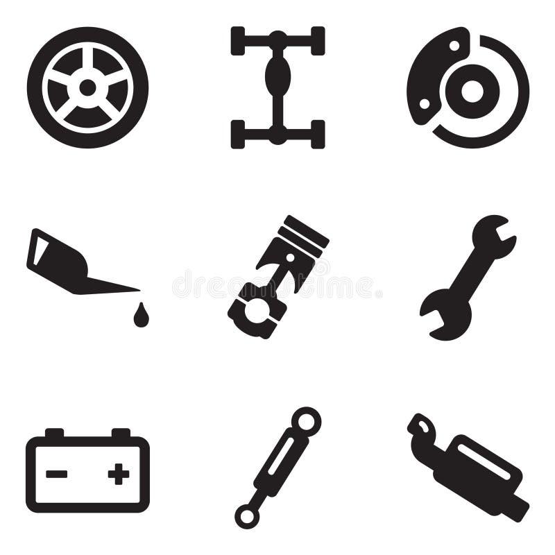 Download Mecánico de coche Icons ilustración del vector. Ilustración de eléctrico - 41902249