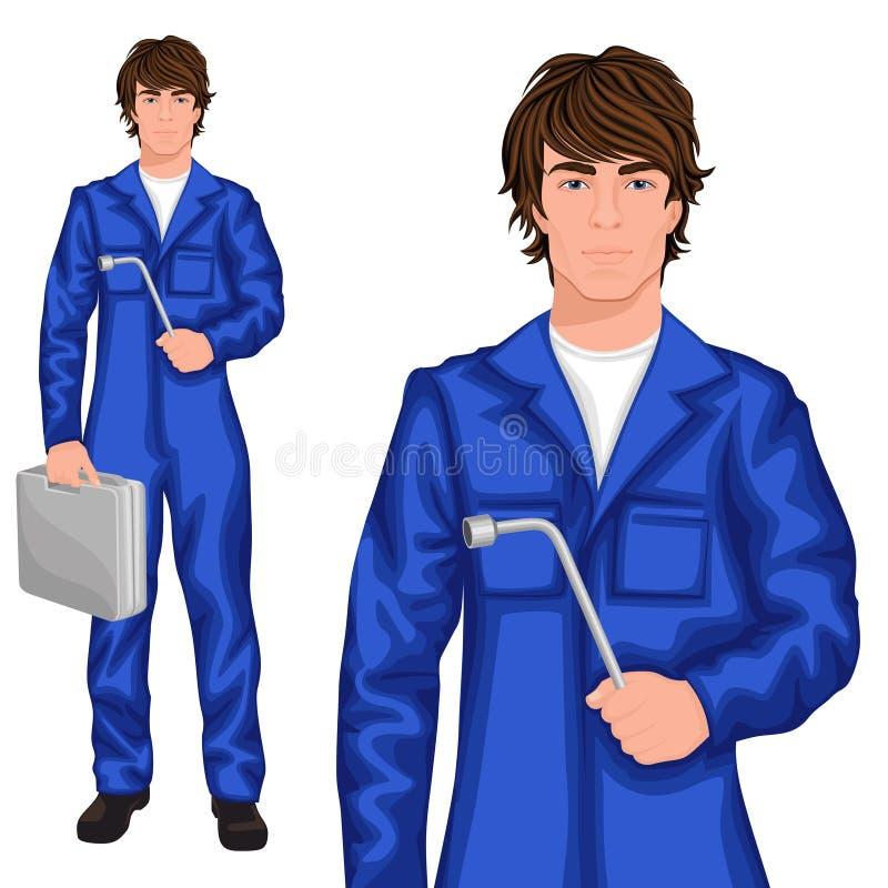 Mecánico del hombre joven ilustración del vector