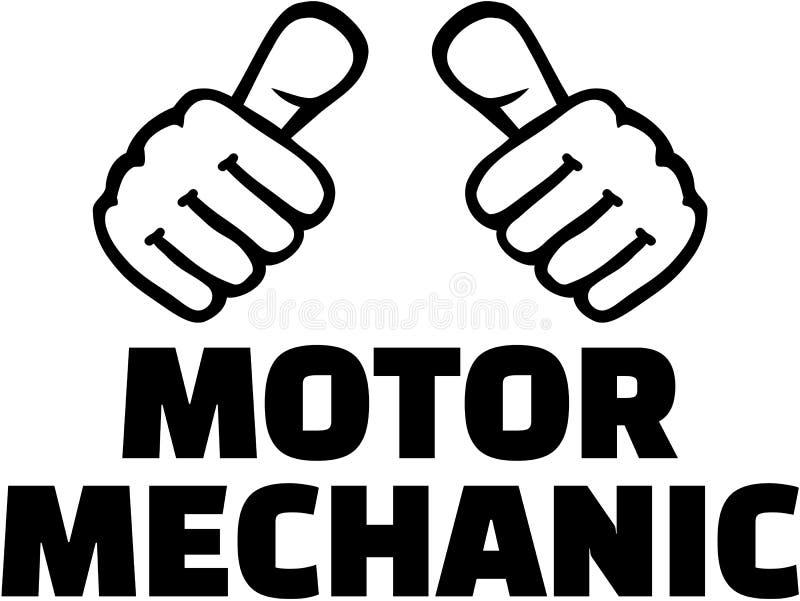 Mecánico del motor con los pulgares Diseño de la camiseta libre illustration