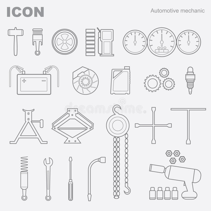Mecânico automotivo do ícone ilustração stock