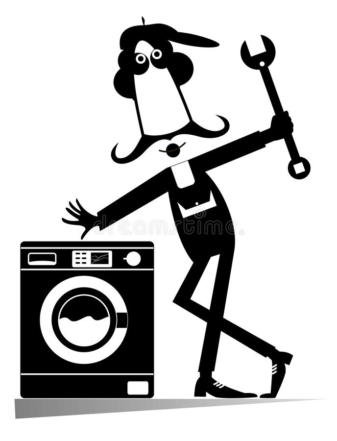 Mecânico cômico Illustration ilustração stock