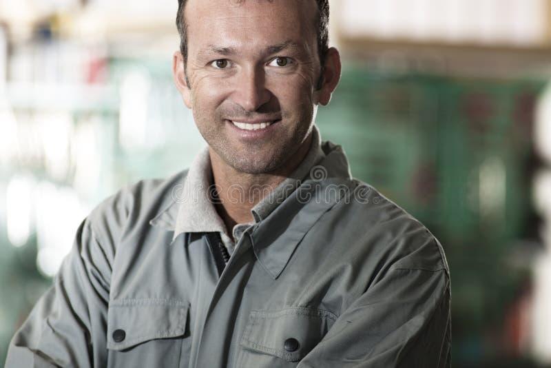 Mecânico de sorriso foto de stock