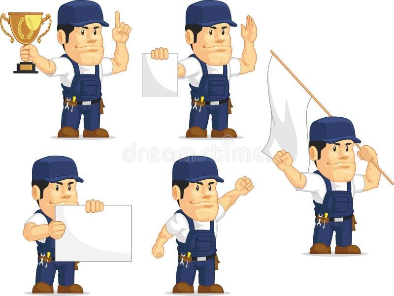 Mecânico forte Mascot 3 ilustração do vetor