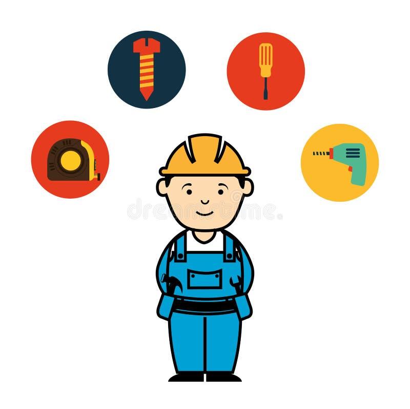 Mecânico Service ilustração stock