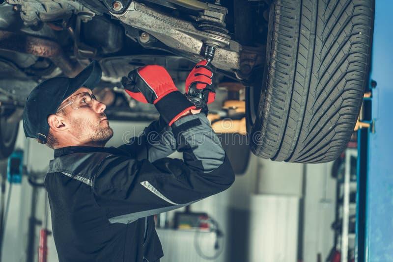 Mecânico Suspension Fix fotografia de stock royalty free