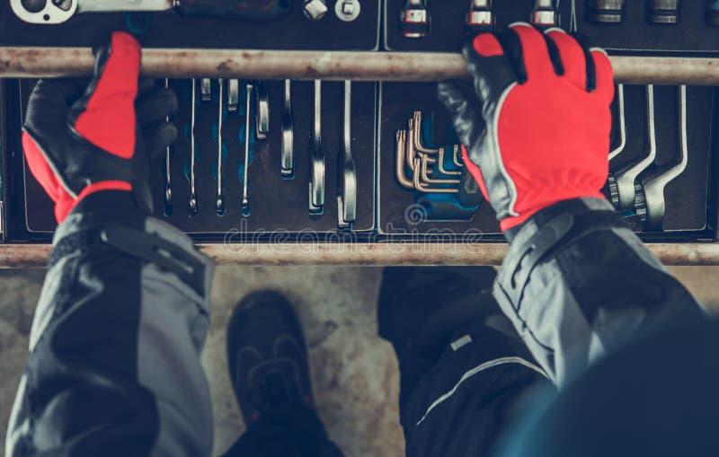 Mecânico Tools Box imagens de stock royalty free