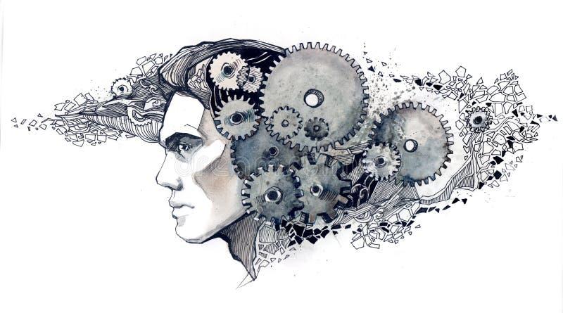 Mecânicos da inteligência ilustração do vetor