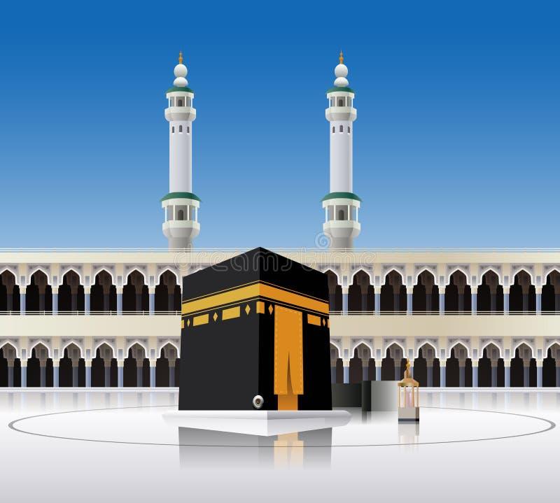 Meca Arábia Saudita de Kaaba ilustração stock