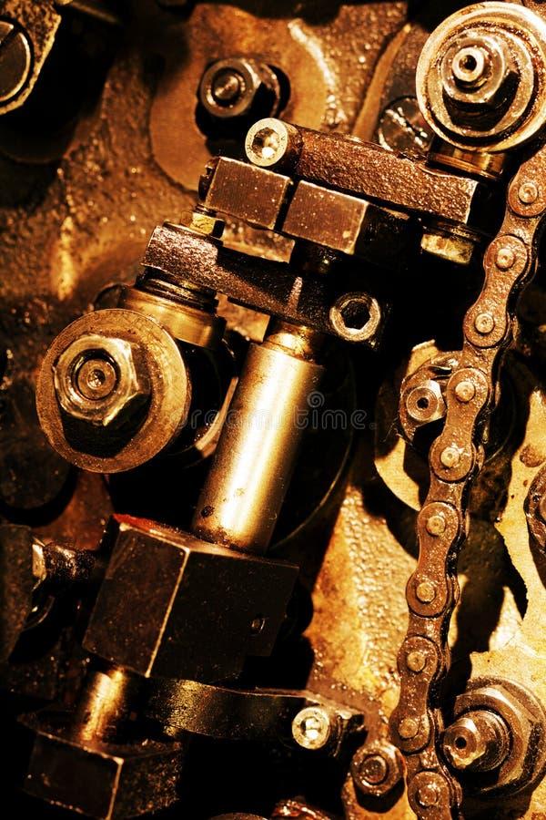 Mecanismo de engrenagens do vintage fotos de stock