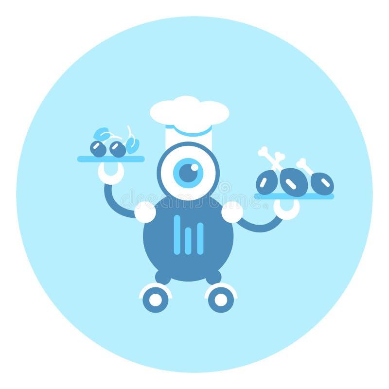 Mecanismo de Icon Modern Robotic do cozinheiro do robô ilustração do vetor