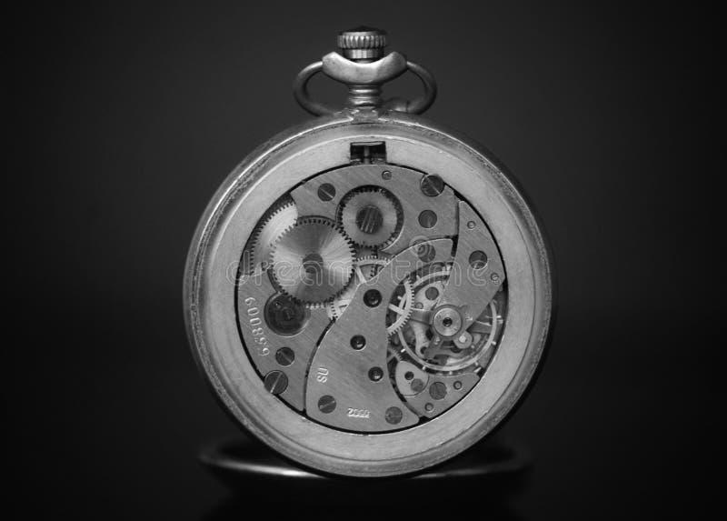 Mecanismo de relógios retros imagens de stock royalty free