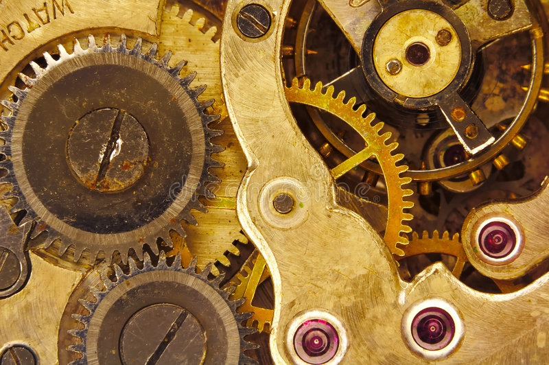 Mecanismo de relojería fotografía de archivo