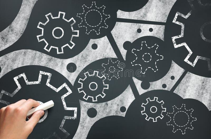 Mecanismo de trabajo Imagen del concepto fotos de archivo