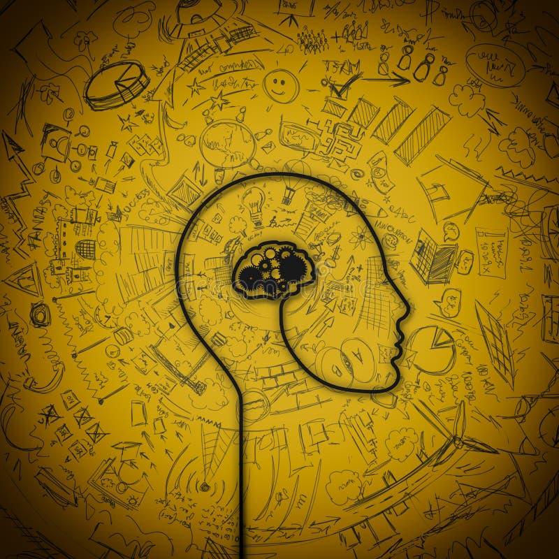 Mecanismo del cerebro imagen de archivo libre de regalías