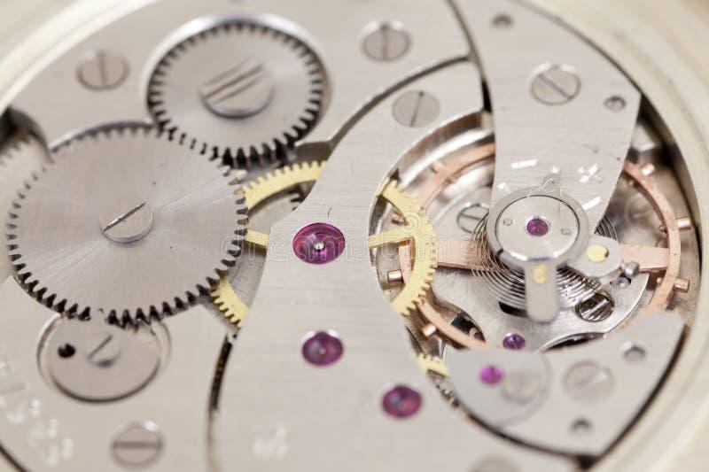 Mecanismo del reloj foto de archivo libre de regalías