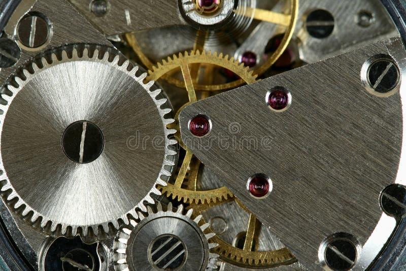 Mecanismo del reloj fotografía de archivo libre de regalías