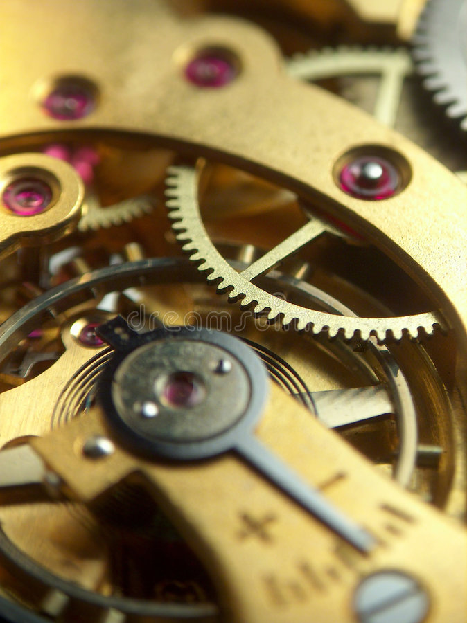 Mecanismo do relógio de bolso imagens de stock