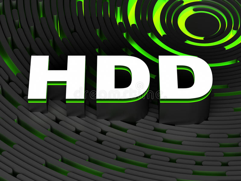 Mecanismo impulsor de disco duro de HDD stock de ilustración