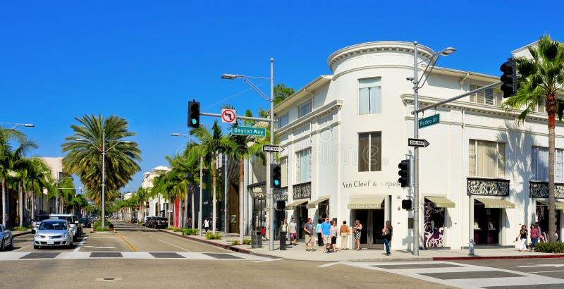 Mecanismo impulsor del rodeo, Beverly Hills, Estados Unidos foto de archivo