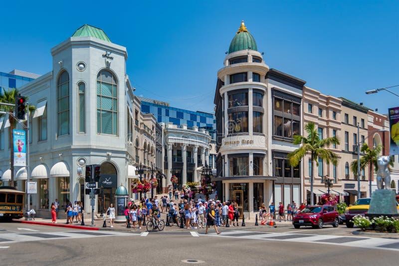 Mecanismo impulsor del rodeo en Beverly Hills imagen de archivo