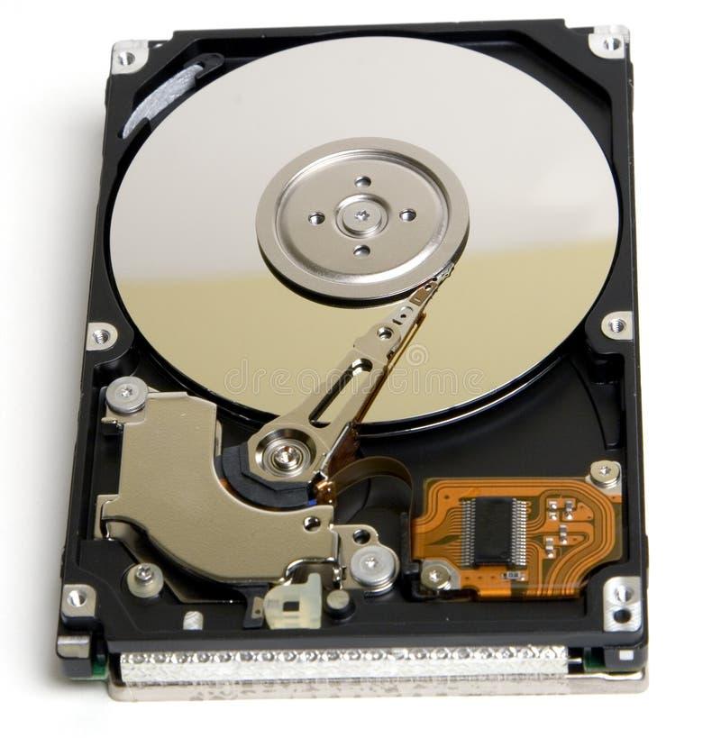 Mecanismo impulsor duro abierto de la computadora portátil imagen de archivo libre de regalías
