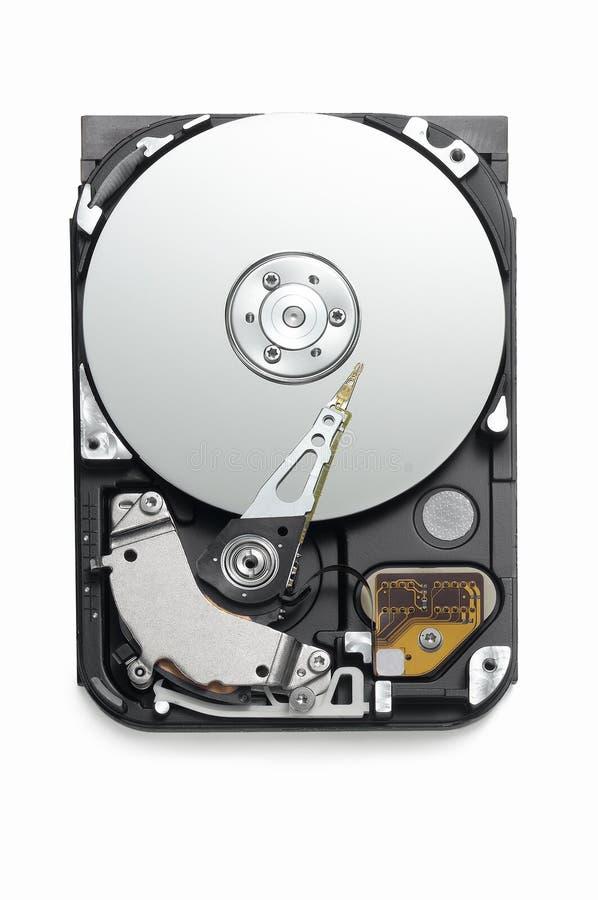 Mecanismo impulsor duro abierto en el fondo blanco de arriba foto de archivo