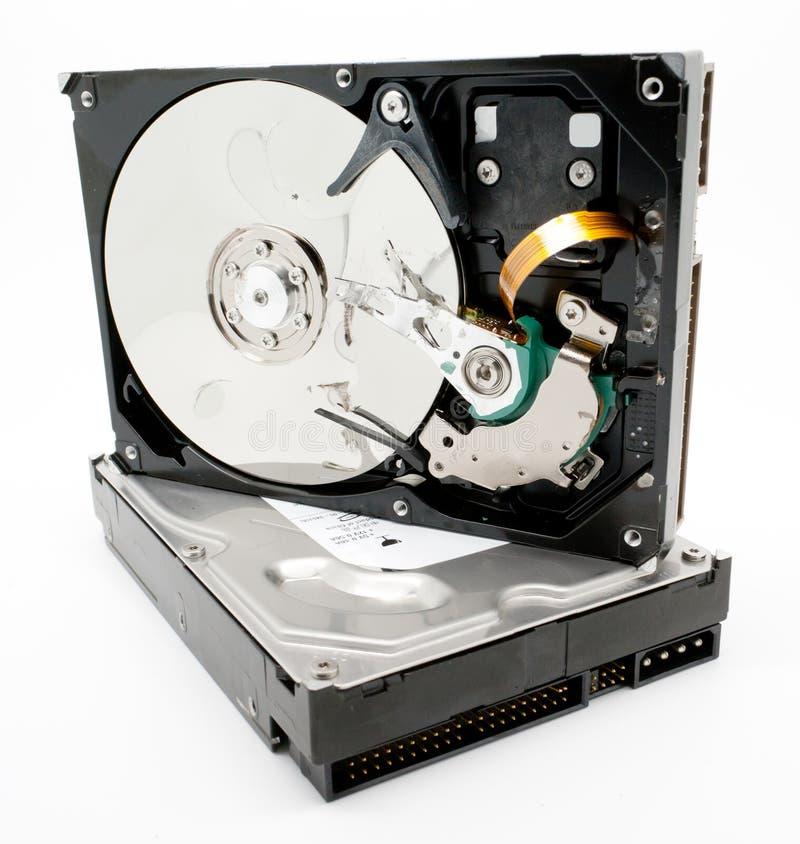 Mecanismo impulsor duro dañado del ordenador imágenes de archivo libres de regalías