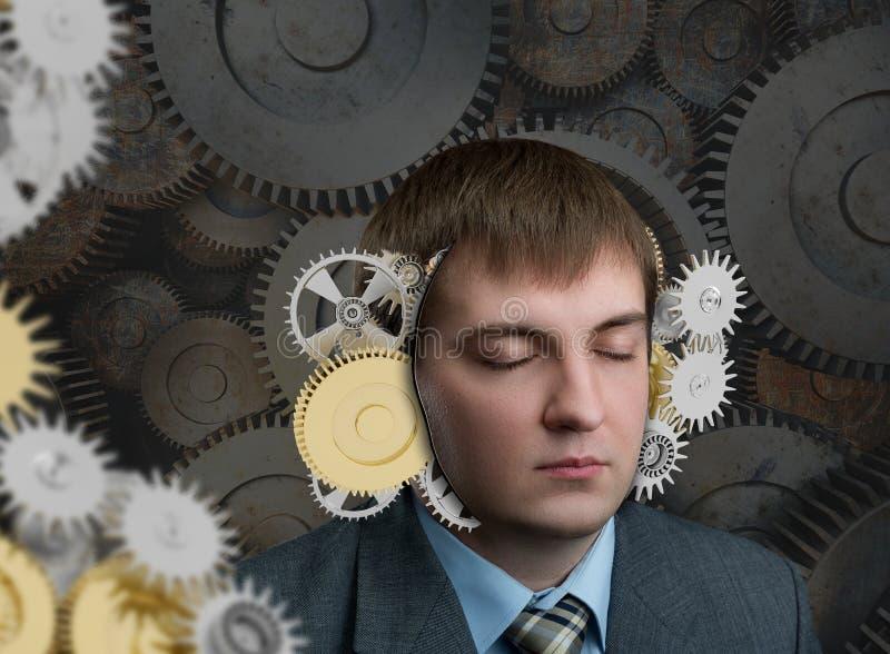 Mecanismo na cabeça imagem de stock