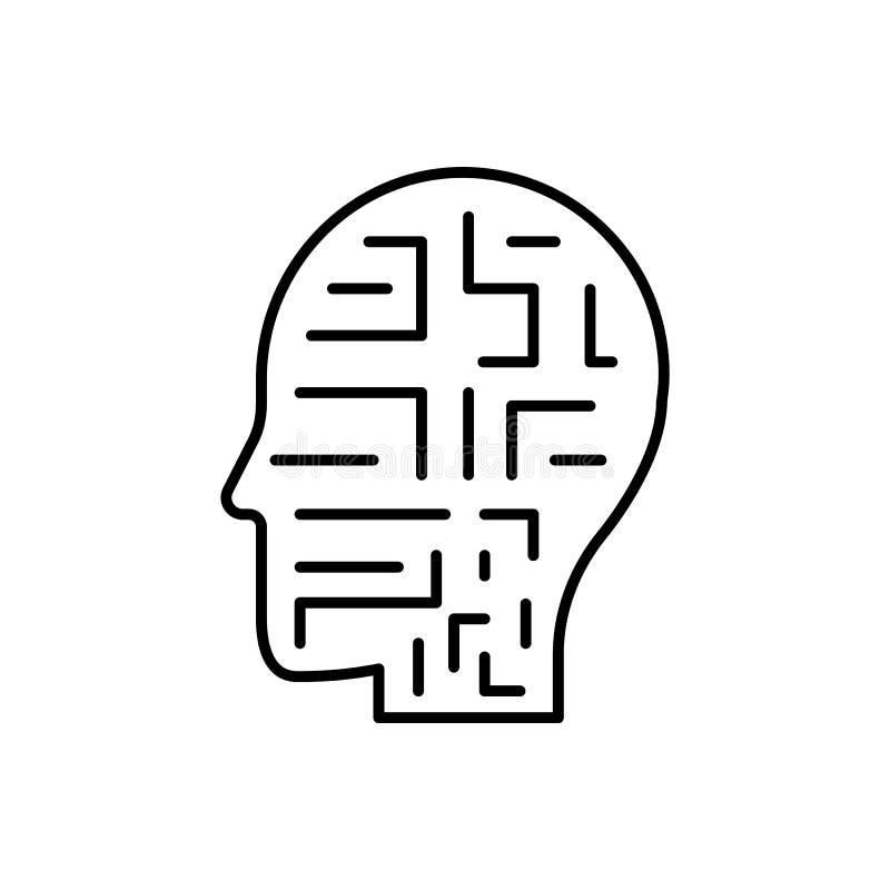 Mecanismo, robot, icono del hombre - vector Inteligencia artificial ilustración del vector