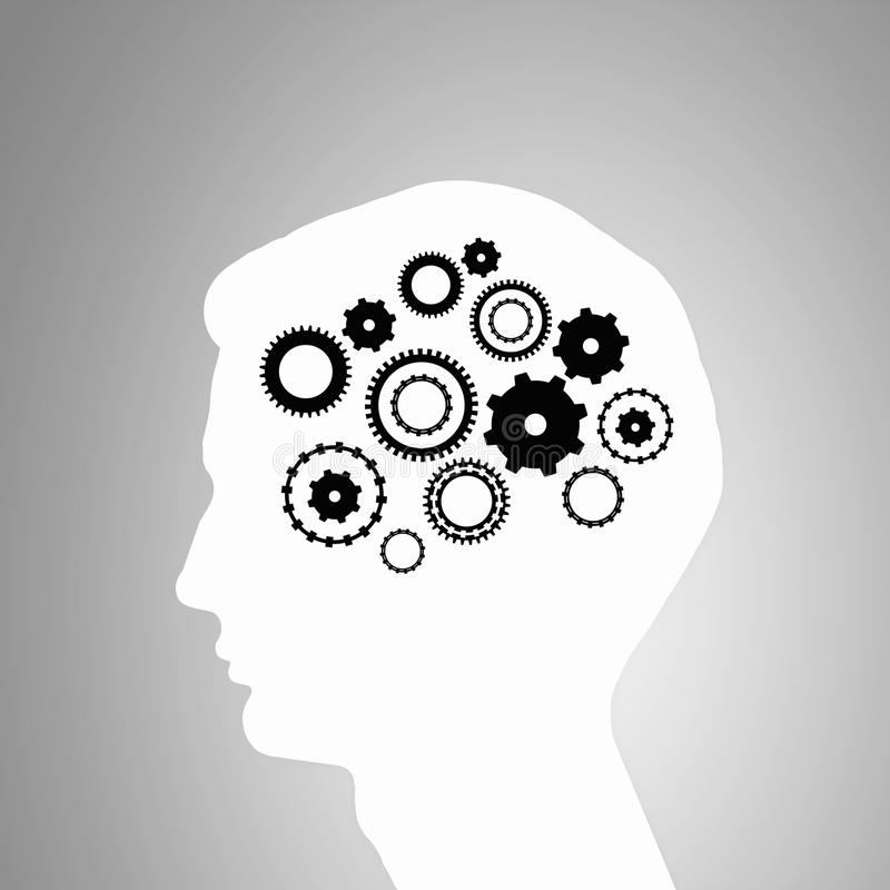 Mecanismos de pensamiento stock de ilustración