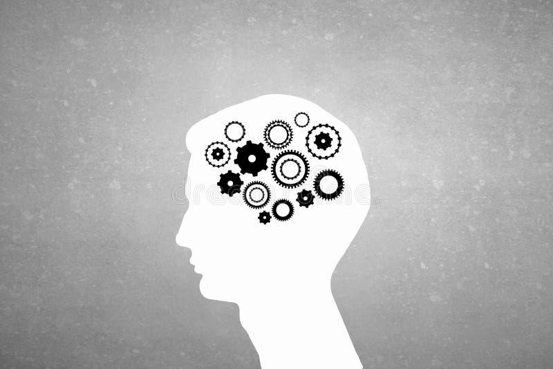 Mecanismos de pensamiento ilustración del vector