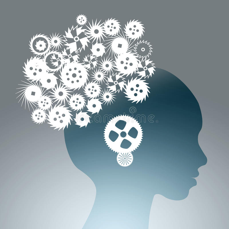 Mecanismos de pensamiento Imagen del concepto libre illustration