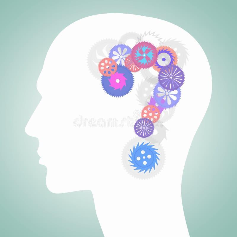 Mecanismos de pensamiento Imagen del concepto stock de ilustración
