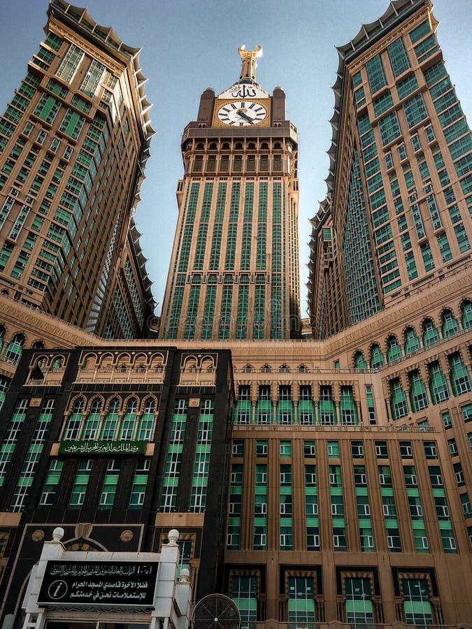 Mecca clock tower stock photography