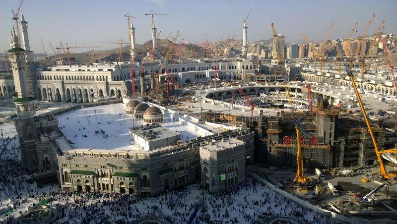 Mecca Masjid Al Haram expansion project stock image