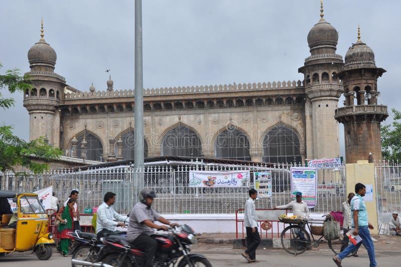 Mecca Masjid em Hyderabad, Índia fotografia de stock