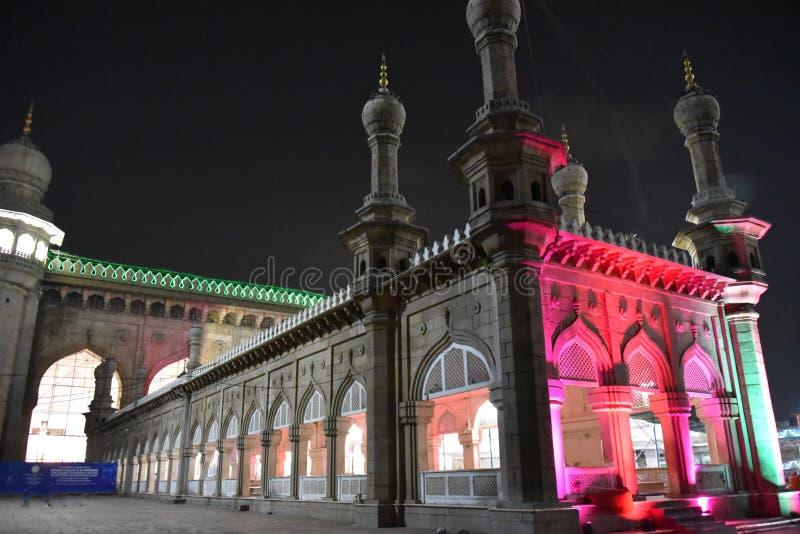 Mecca Masjid, Hyderabad, Telangana, Indien lizenzfreie stockfotos