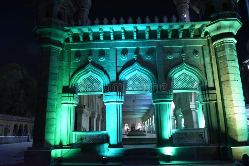 Mecca Masjid, Hyderabad, Telangana, Indien lizenzfreie stockbilder