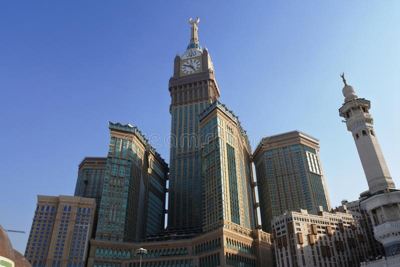 Mecca Royal Hotel Clock Tower immagine stock