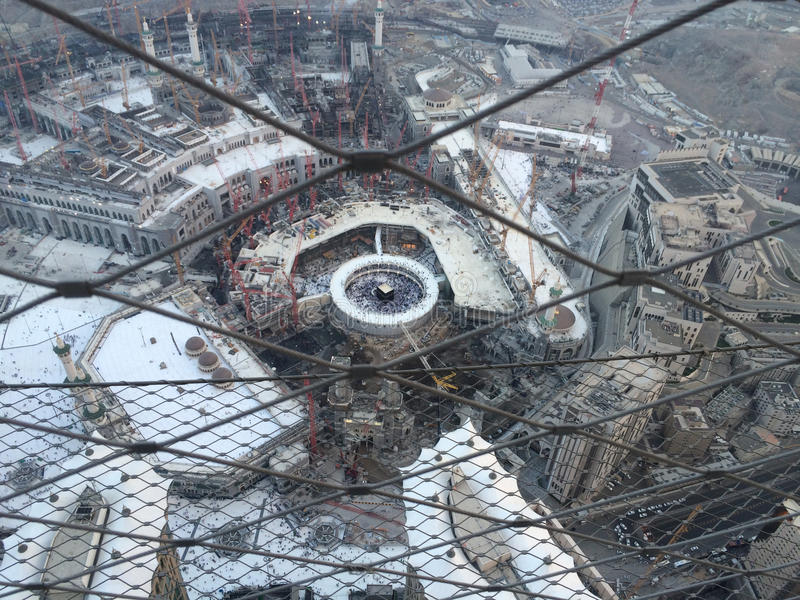 Mecca under contruction royalty free stock photography