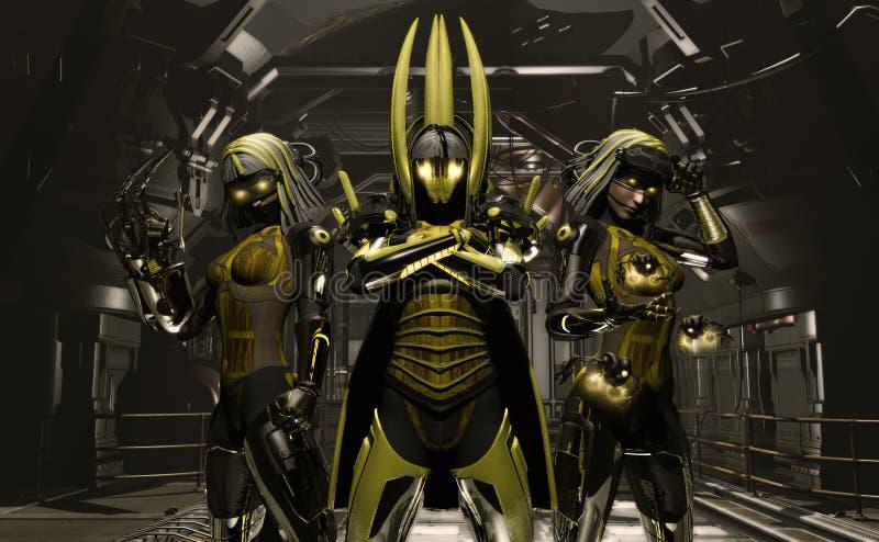 Meccanici del Cyborg illustrazione di stock